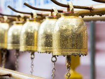 Perspective of buddhist bells on drop Stock Photos