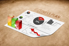 Perspective of a business plan Royalty Free Stock Images