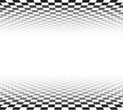 Perspective checkered surface Stock Images