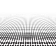Perspective checkered surface Royalty Free Stock Photos