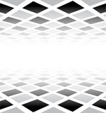 Perspective checkered surface Royalty Free Stock Images