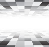 Perspective checkered surface Royalty Free Stock Photo