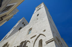 Perspective of a church. Apulia. Royalty Free Stock Image