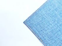 Perspective and closeup view to abstract space of empty light blue natural clean denim texture for the traditional business backgr. Ound stock photo