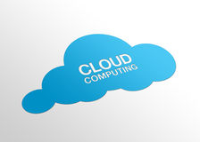 Perspective Cloud Computing. High resolution perspective graphic of a cloud and the words cloud computing Royalty Free Stock Image