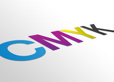 Perspective CMYK Sign Stock Image