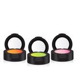 Perspective colorée de fard à paupières de maquillage de vecteur Images libres de droits