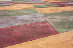 Perspective of colored pavement Stock Image