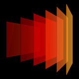 Perspective colorful abstract rectangles on black Royalty Free Stock Photo