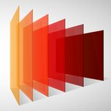 Perspective Colorful Abstract Rectangles On White Stock Photography