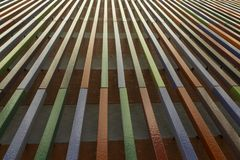 Perspective composed of vertical lines climbing up. To the top Stock Photo