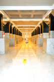 Perspective corridor at airport Royalty Free Stock Images