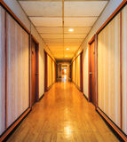 Perspective of the corridor Stock Image