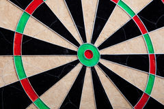 Perspective Of Cracked Darts Board Stock Photography
