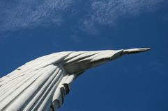 Cristo`s right hand from behind stock image