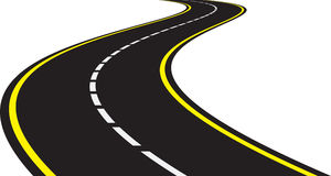 Perspective of curved road Royalty Free Stock Image