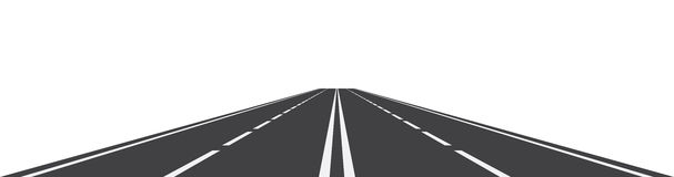 Perspective of curved road. Vector illustration of perspective of curved road Stock Photos