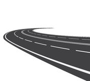 Perspective of curved road. Vector illustration of perspective of curved road Royalty Free Stock Photography