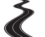 Perspective of curved road Stock Photos