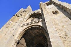 Perspective d'entrée de cathédrale Photographie stock