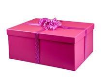 Perspective d'isolement par boîte-cadeau rose image libre de droits