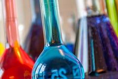 Perspective de bleu de chimie photo stock