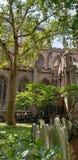Perspective de cimetière d'église Trinity de New York images stock