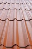 Perspective de fond de toit rouge Photographie stock