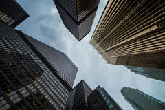 Perspective de gratte-ciel de ville de Toronto Image stock