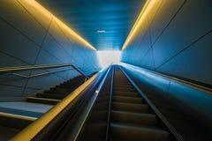 Perspective de Hambourg de métro de HafenCity U-Bahn photographie stock
