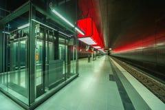 Perspective de Hambourg de métro de HafenCity U-Bahn photo stock