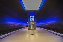 Perspective de Hambourg de métro de HafenCity U-Bahn photos libres de droits