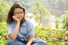 Perspective de l'adolescent féminin Image libre de droits