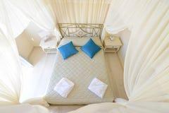 Perspective de lit de tente Images libres de droits