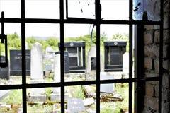 Perspective de maison sépulcrale Photo libre de droits