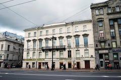 Perspective de Nevsky dans la ville de St Petersburg, Russie Image libre de droits