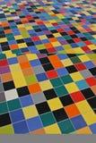 Perspective des tuiles de mosaïque colorées image libre de droits