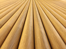 Perspective. Desk made of wood in a Store in Marbella Royalty Free Stock Photo
