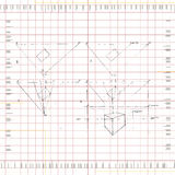 Perspective Drawing. A perspective drawing is drawn on measured grid graph paper. Fully scalable vector illustration Stock Photos