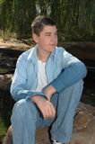 Perspective du jeune homme Image stock