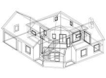 Perspective du modèle 3D de Chambre Photographie stock libre de droits