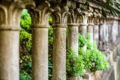 Perspective effect on a baluster with Corinthian style columns. In Tuscany royalty free stock photo