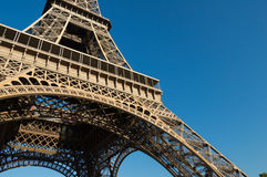 Perspective of the Eiffel Tower Stock Image