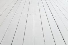 Perspective en bois blanche de fond de plancher image libre de droits