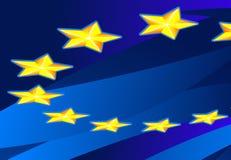 Perspective Flag of Europa Stock Photos