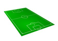 Perspective football field Royalty Free Stock Image