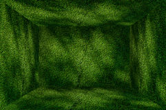Perspective Grass Green wall and floor interior background. A Perspective Grass Green wall and floor interior background stock photography