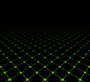 Perspective grid dark surface Royalty Free Stock Image