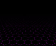 Perspective grid hexagonal surface Royalty Free Stock Photo