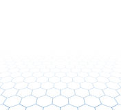 Perspective grid hexagonal surface Stock Photos